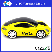 Cheap wireless car shaped mini mouse with custom PMS match color