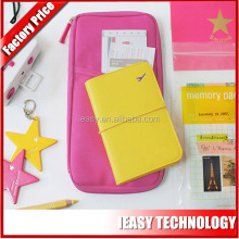 Fashion pu leather lady document wallet Wholesale Passport Case