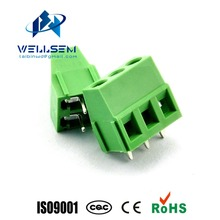 3 poles Pitch 2.54mm PCB Screw Terminal Block 300V/10A brass cage Rohs,UL, CE Approved KF128-2.54