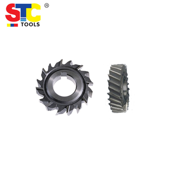 Staggered teeth side and face milling cutter