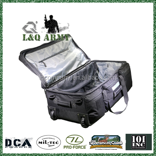 Heavy Duty Large Tactical Trolley Bag with High Quality Wheels