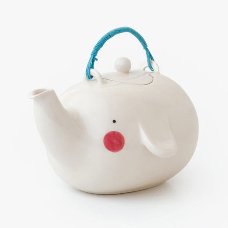 ceramic cute elephant teapot customized tea set with cast handle