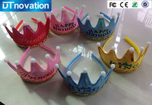 Wholesale prince and princess crowm led cap light baby headgear