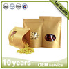 recyclable tea paper packaging bag with window transparent paper bag