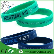 Faith Wristbands Philippians 4:13, Luke 1:37 & Proverbs 3:5 Silicone Bracelets - Christian