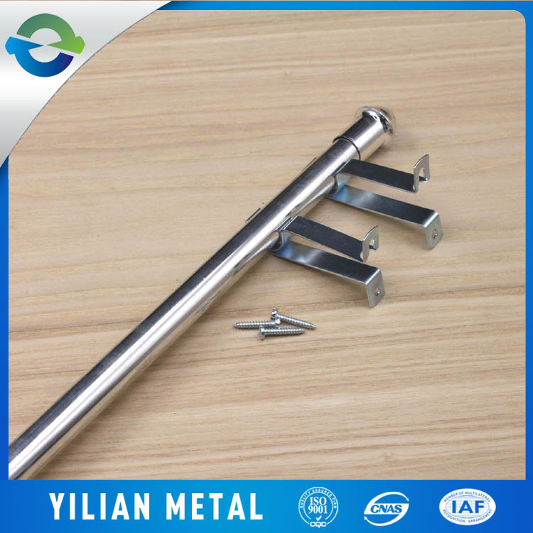 supply Golden Rod Telescopic Shower Curtain Pole folding iron rods