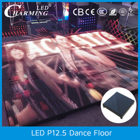 disco light flashing light up dance floor toughened glass covered for dance stage