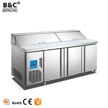 2017 High Quality Commercial Stainless Steel Under Counter Worktop Refrigerated Salad Bar