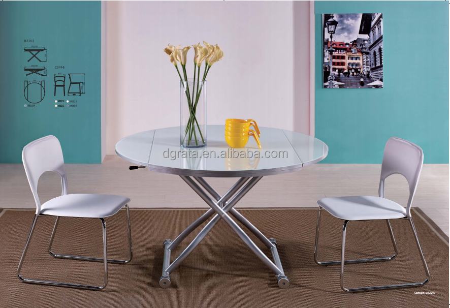 2016 creative multifunctional dinner table with brake for Creative dining room table ideas