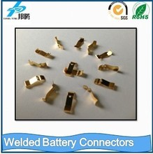 Gold plated nickel sheet as welded battery pack connectors
