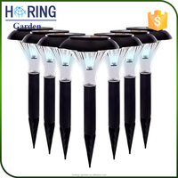 Wholesale Solar Power LED Path Lamp Plastic Garden Stake Lights Solar Fence Post Cap Light for Holiday lighting
