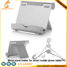 Hot Sale Aluminium Metal Desk Stand Holder for iPad 2 and for ipad3 Tablet PC Universal Stand