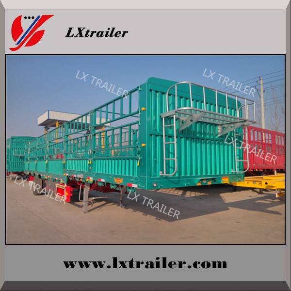 FUWA 3axles fence semi trailer for animal /coal /vegetables transportation