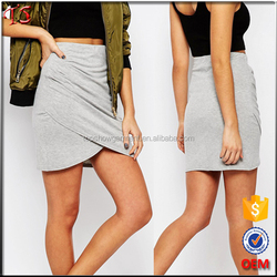 Manufacturer ruched side wrap skirts slim fit ladies short skirt designs