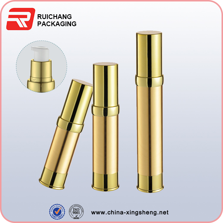 shiny gold airless pump bottle airless dispenser