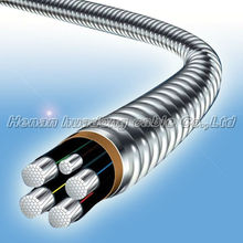 interlocked aluminum alloy armoured MC Galvanized Steel Interlocked Armor Cable MC Cable THHN/THWN-2 as Inners Metal Clad Cable