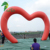 custom red inflatable heart shape arch with LED lighting for wedding decoration