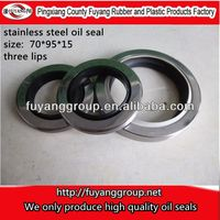 SHJS PTFE three lips +Stainless steel oil seals for air compressor-70*95*15