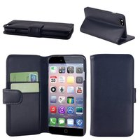Pu wallet stand leather case cover for Apple iPhone6 with Card Slots