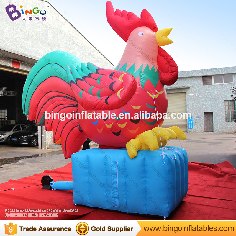 Buyer request chinese new year inflatables red rooster for sale