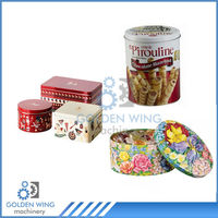 Semi Automatic Colorful Round Cookies Tin