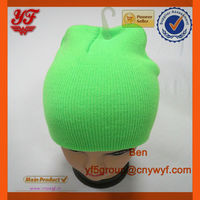 2015 100% Acrylic Beanie Knitted Hat For Hot Sale