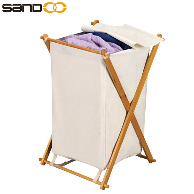 Hot-Selling Cheap Wood Hamper, with Polyester Bag and Lid