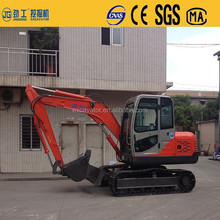 Multi-functional hydraulic small compact mini bucket crawler excavator with digger and grapple