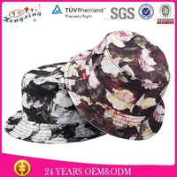 Promotional Plain Short Brim Cotton Custom All Over Print Bucket Hat Pattern