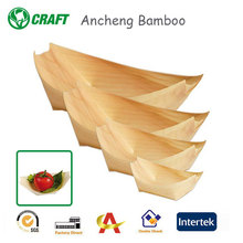 Food container eco-friendly wooden boat handicraft