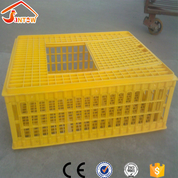 Plastic chicken duck quail birds animal pigeon broiler livestock transport cages for poultry transportation