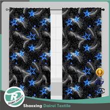 Fancy printed Bedding living room curtain for living room