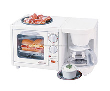 Breakfast maker 3 in 1/coffee maker/electric oven/toaster