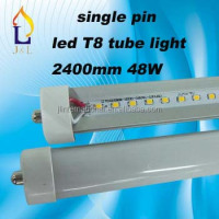 free shipping 8ft T8 LED Tube Light 48W 2835 SMD led tube light single pin G13