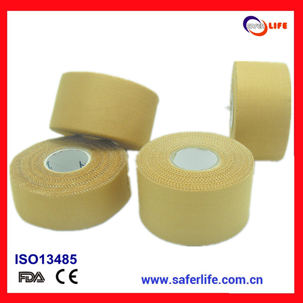 China Manufacture&Export Rayon Cotton Rigid Sports Strapping Tape with CE/FDA/ISO Certificates Rigid Strapping Tape zinc oxide
