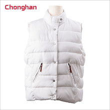 Chonghan 2018 OEM Custom White Colour Ladies Cotton Waistcoat Price In Pakistan