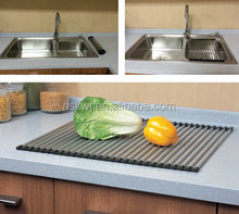 stainless steel foldable drain rack,basket rack
