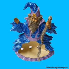 Resin Smoking Wizard Incense Stick and Cone Holder.