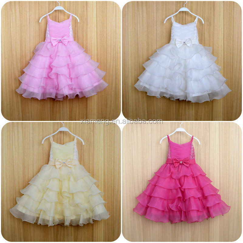 puffy modern baby girl dress of 9 years old birthday party