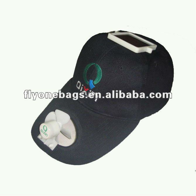 Promotional Solar Caps With Fan