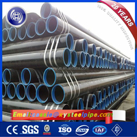 ASTM A252 Line Piling ERW Welded Steel Pipe, Oil, Gas and Water Transfer Pipeline