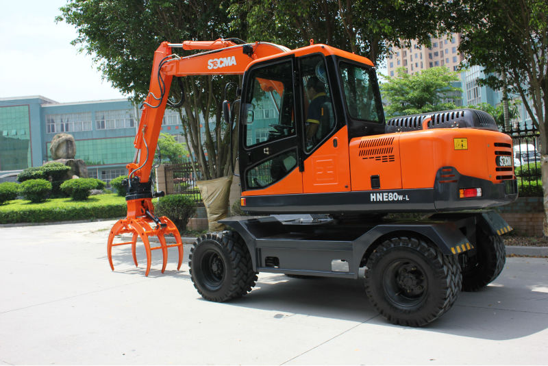 SOCMA manufacturer for sale cheap 8 ton wheeled excavatore used excavator