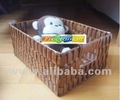 Freetomall Home & Garden natual style wood crips storage basket