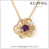 xuping fashion necklace jewelry 2016 statement 18K gold color necklace pendant (41305)