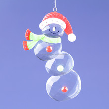 2015 new style christmas decoration fashion snowman wearing nice xmas hat ornament 01401037