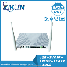 Gpon Onu Ont Custom produce ZC-G521GWT replace of F668 HG8247H factory produce 4GE+2Tel+WIFI+USB+CATV