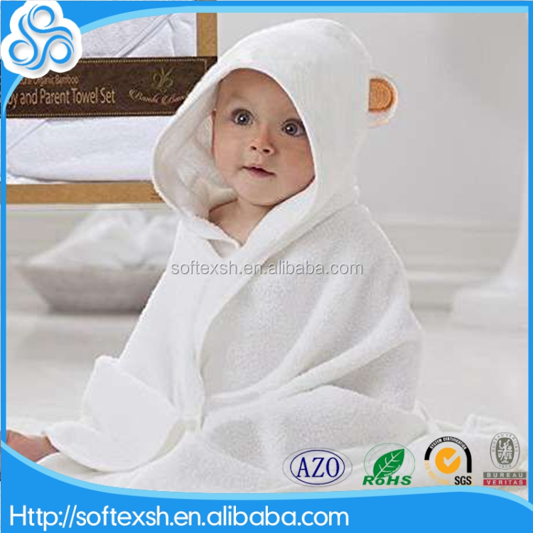 buy direct from china factory custom size 75x75cm extra soft bamboo organic baby hooded towel