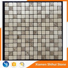 Wholesale Best Quality Backmesh Grey Marble 5mm Mini Mosaic Tiles for Decoration