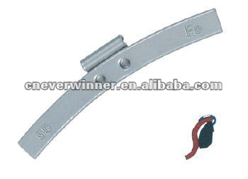 Fe clip on wheel weight for steel rim