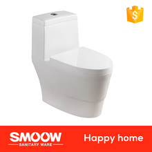 8026 SMOOW Siphon Double hole siphonic one-piece closet S-trap 695*395*720 WC Toilet